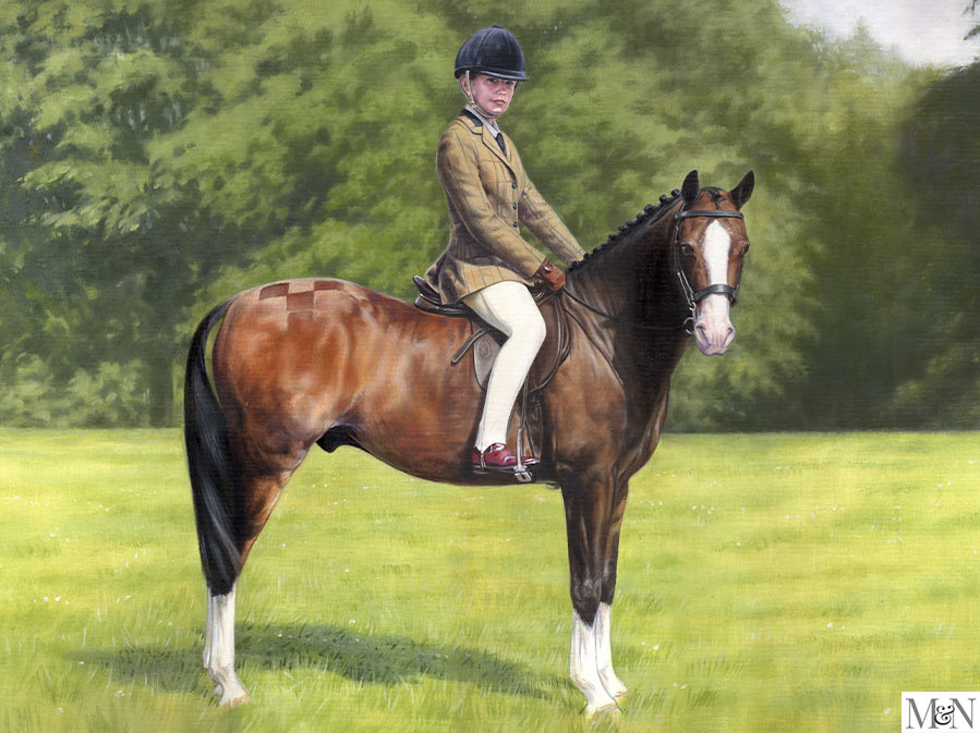 horse and rider painting