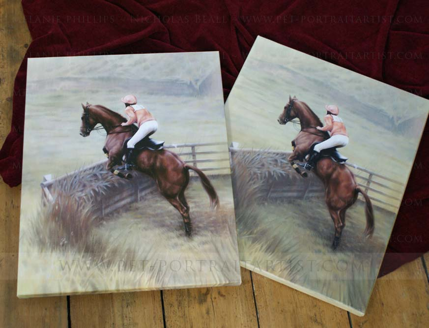 Horse Jumping Portrait and Print
