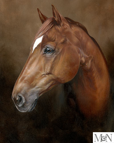 oil horse linen portraits