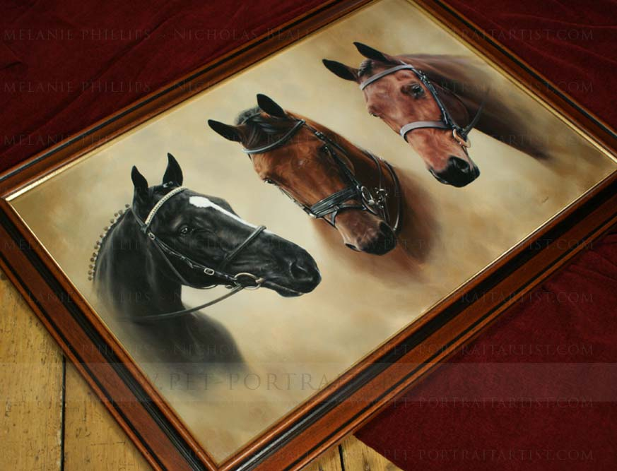 Three Horse Portrait Framed