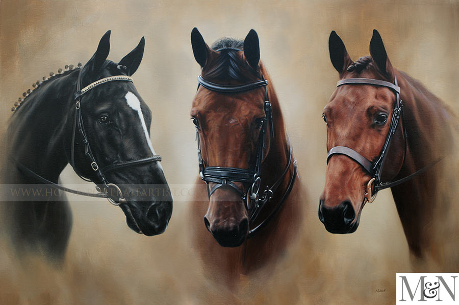 Three Horse Portrait by Nicholas Beall