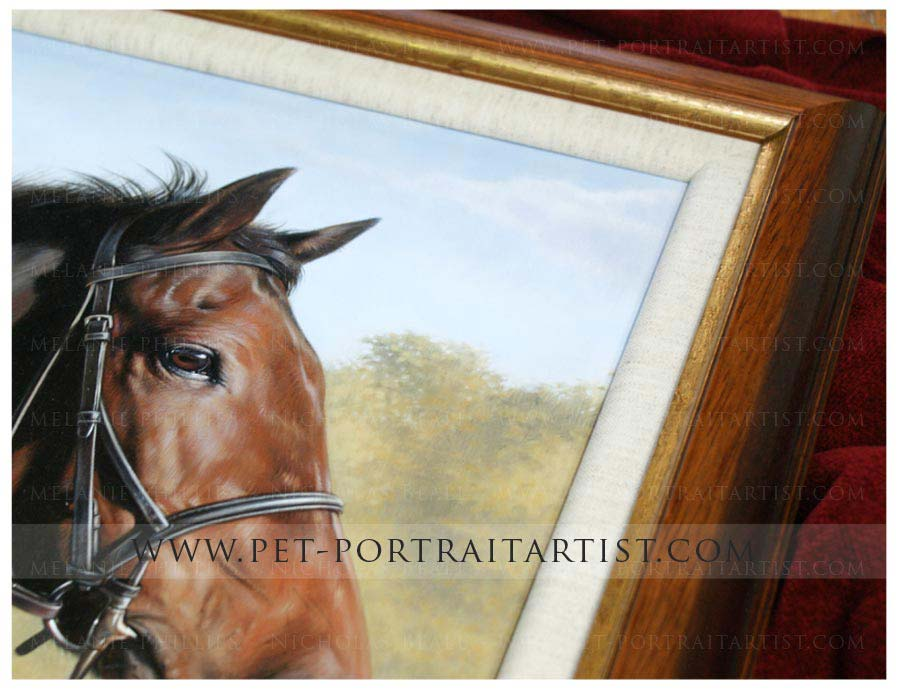 Horse Painting Framed in Detail