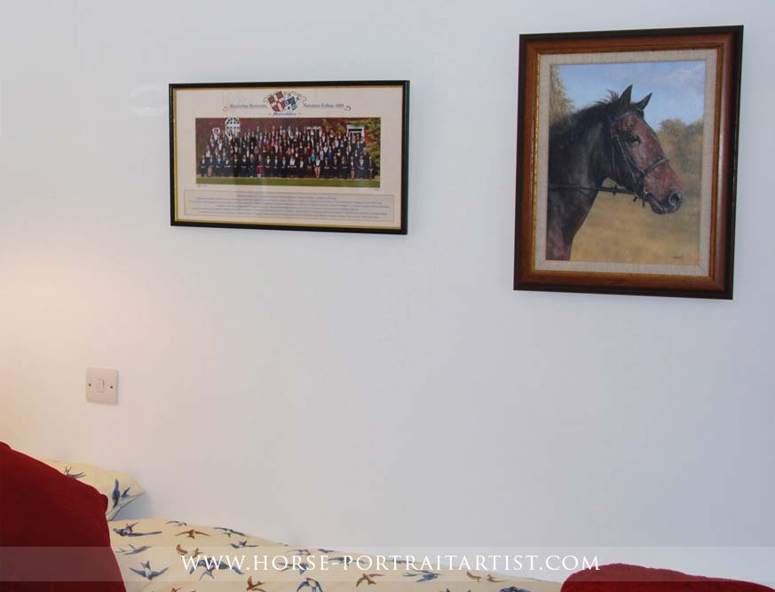 Horse Painting Framed