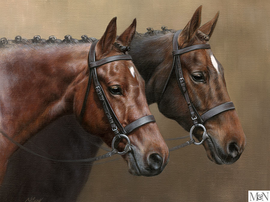 horse portrait oil