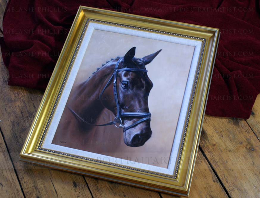 Horse Portrait in Oils Framed