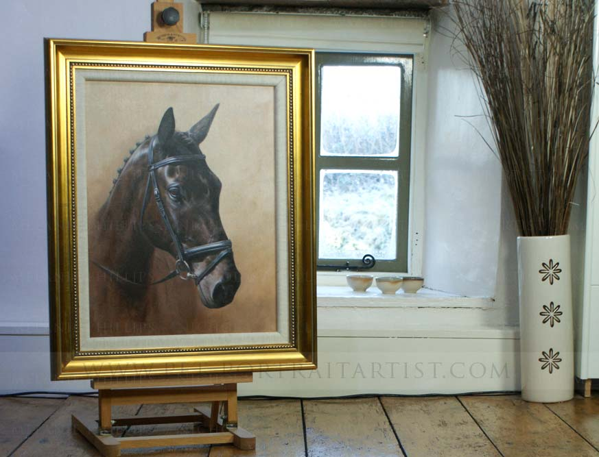 Horse Portrait in Oils on the Mini Easel