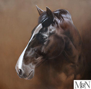 large horse oil painting