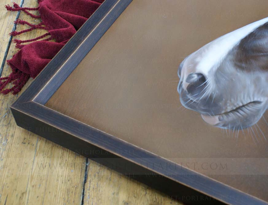 Horse Portraits in Oils on Canvas Framed