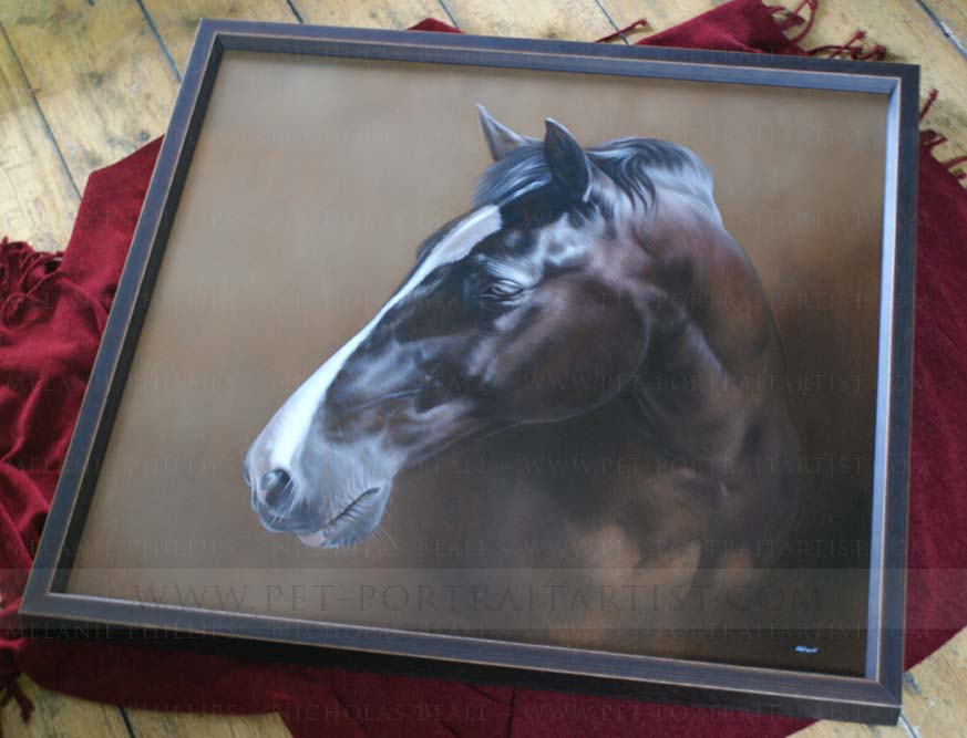 oil portrait horse on canvas
