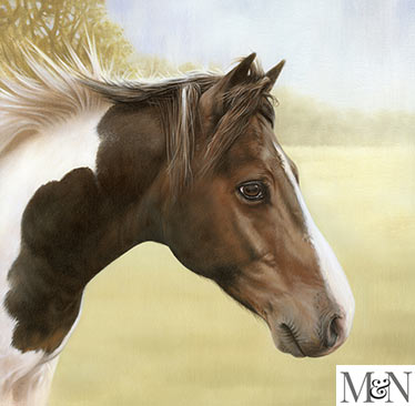 horse oil portraits