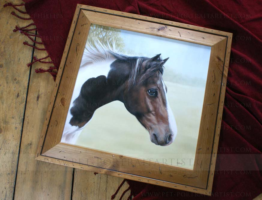 Horse Oil Painting Framed