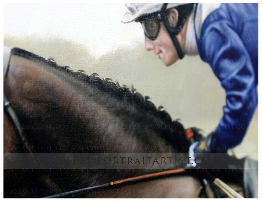 Close up of the horse painting